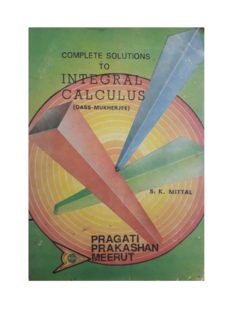 Solution to Integral Calculus Das Mukherjee Part 1 by S K Mittal Pragati Prakasan Meerut for standard 11 12 IIT JEE Engineering Entrance Examinations