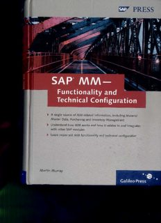 SAP MM-Functionality and Technical Configuration