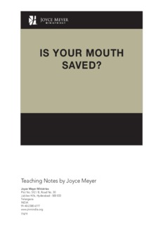 Is Your Mouth Saved - Joyce Meyer Ministries: Asia