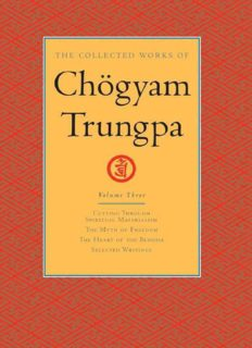 The Collected Works of Chögyam Trungpa: Volume 3