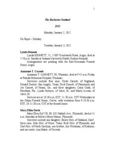 Holiday Tuesday, January 3, 2012 Lynda Bennett Lynda BENNETT, 5