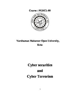 Cyber securities and Cyber Terrorism
