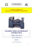 MACHINE TOOLS TECHNOLOGY AND PRACTICE - Unesco-Nigeria TVE