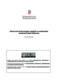 Advanced technologies applied to wastewater treatment plant effluents Ana Justo Llopis Aquesta ...