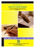 Kumpulan Karya Tulis Ilmiah Pada Lomba Karya Tulis Ilmiah Tahun 2015 Tema