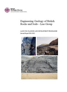 Engineering Geology of British Rocks and Soils - Lias Group