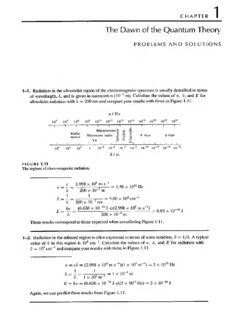 Problems & Solutions to Accompany McQuarrie - Simon Physical Chemistry: A Molecular Approach [CHAPTERS 1~14 ONLY]