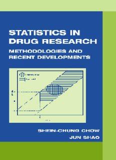 Statistics In Drug Research: Methodologies and Recent Developments (Biostatistics, 10)