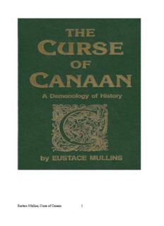Eustace Mullins, Curse of Canaan 1