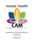Complementary & Alternative Medicine for Mental Health