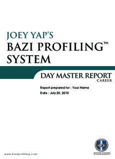 Joey Yap's BaZi Profiling™ System - MasteryAcademy.com