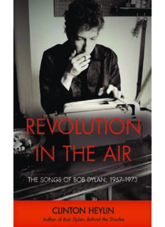Revolution in the Air: The Songs of Bob Dylan, 1957-1973 (Cappella Books)