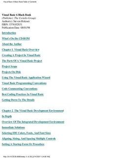 Visual Basic 6 Black Book Author(s): Steven Holzner