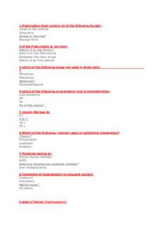 General Medicine MCQ questions