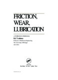 FRICTION, WEAR, LUBRICATION