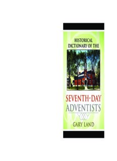 Historical Dictionary of the Seventh-Day Adventists (Historical Dictionaries of Religions, Philosophies and Movements)