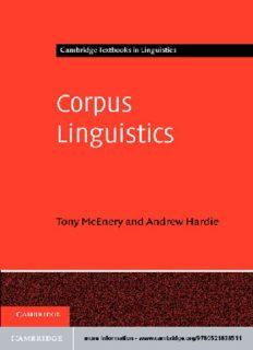 Corpus Linguistics: Method, Theory and Practice (Cambridge Textbooks in Linguistics)