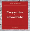 Properties of concrete By A.M. Neville