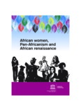 African women, Pan-Africanism and African renaissance