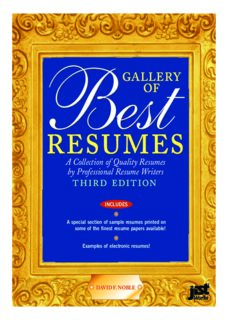 Gallery of Best Resumes: A Collection of Quality Resumes by Professional Resume Writers (Gallery of Best Resumes), 3rd Edition