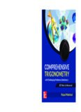 Comprehensive Trigonometry for IIT JEE Main and Advanced Rejaul Makshud McGraw Hill