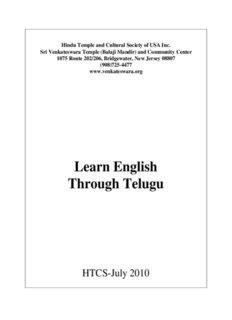 Learn English Through Telugu