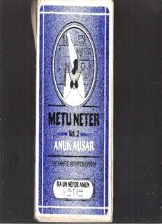 Metu Neter, Volume 2 by Ra Un Amen Nefer