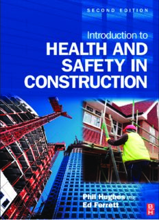 Introduction to Health and Safety in Construction. The handbook for construction professionals and students on NEBOSH and other construction courses