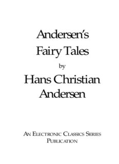 Andersen's Fairy Tales Hans Christian Andersen - Penn State