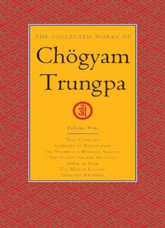 The Collected Works of Chögyam Trungpa : Volume 9