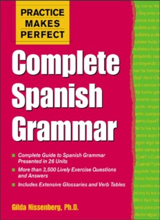 Page 1 PRACTICE MAKES PERFECT Hammar - Complete Guide to Spanish Grammar Presented ...