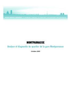 Analyse et diagnostic du quartier de la gare Montparnasse