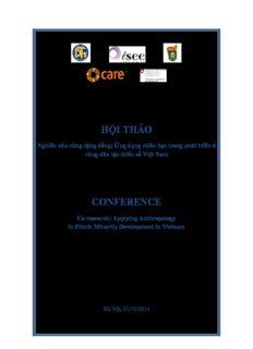 Kỷ yếu hội thảo Nghiên cứu cùng cộng đồng: Ứng dụng nhân học trong phát triển