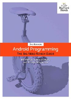 Android Programming: The Big Nerd Ranch Guide (3rd Edition)
