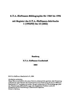 E.T.A.-Hoffmann-Bibliographie
