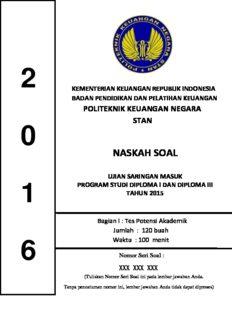 Soal dan Pembahasan USM PKN STAN 2016