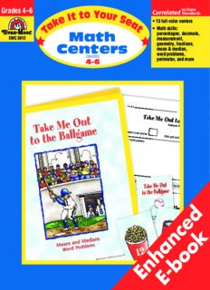Take It to Your Seat : Math Centers, Grades 4-6
