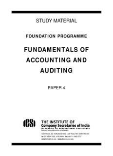 FUNDAMENTALS OF ACCOUNTING AND AUDITING - ICSI
