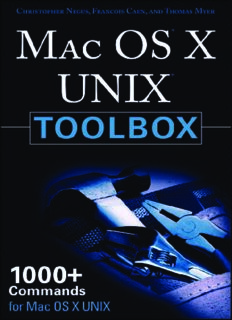 MAC OS X UNIX Toolbox: 1000+ Commands for the Mac OS X