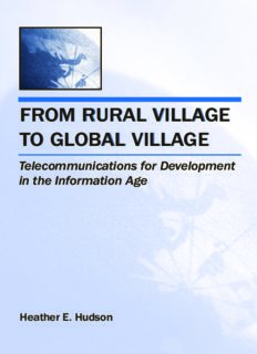 From Rural Village to Global Village: Telecommunications for Development in the Information Age (Telecommunications) (Telecommunications)