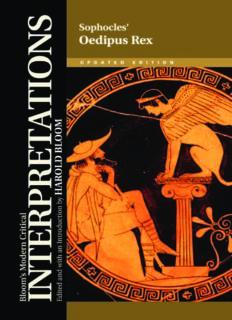 Sophocles' Oedipus Rex (Bloom's Modern Critical Interpretations)