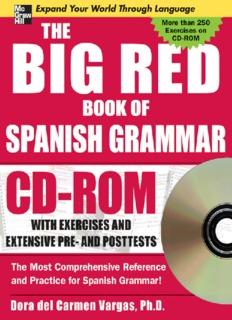 big red book of Spanish grammar