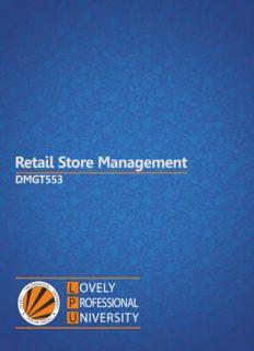 Retail Store Management