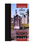 Allen Tate: Blooms Major Poets: Comprehensive Research And Study Guide (Bloom's Major Poets)