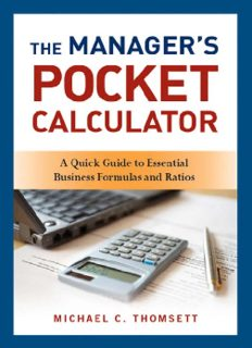 The Manager's Pocket Calculator: A Quick Guide to Essential Business Formulas and Ratios