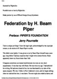 H Beam Piper - Federation