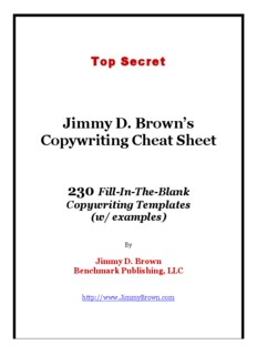 Jimmy D. Brown's Copywriting Cheat Sheet