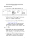 SILVERWING ANNIVERSARY EDITION TEACHER'S GUIDE