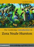 The Cambridge Introduction to Zora Neale Hurston (Cambridge Introductions to Literature)