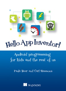Hello App Inventor! Android programming for kids and the rest of us